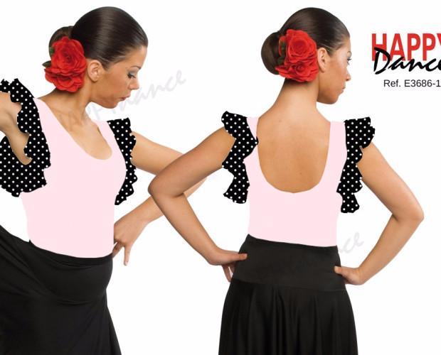 Mailot de flamenco. Tirante ancho con un volante en sisas