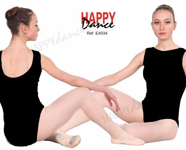 Maillot ballet clásico. Espalda dorsal sin costura