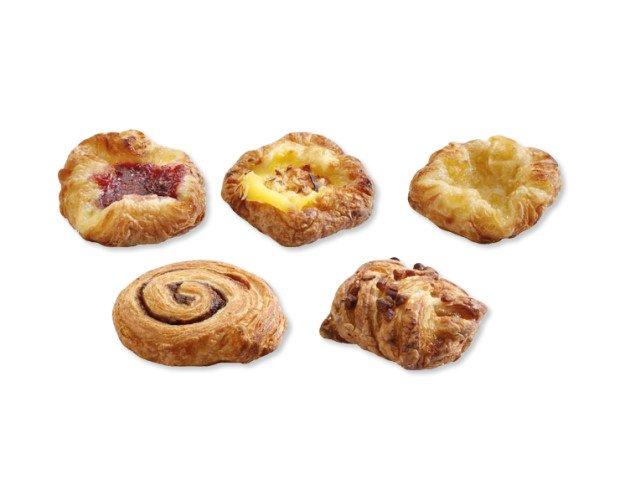 Pastas danesas. Surtido de mini danesas