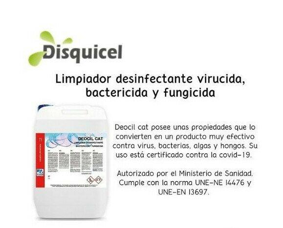 Deocil cat. Limpiador desinfectante virucida, bactericida y fungicida.