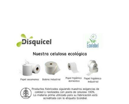 Nuestra celulosa ecológica. Secamanos, bobina industrial, papel higiénico doméstico y papel higiénico industrial