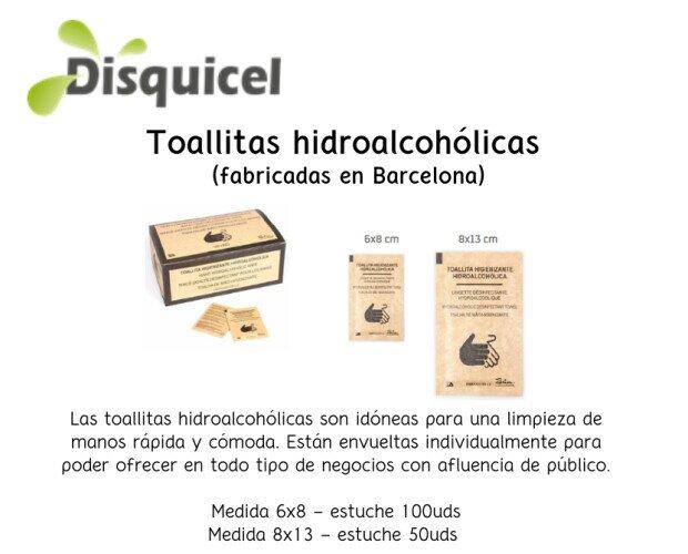 Toallitas hidroalcohólicas. Las toallitas hidroalcohólicas son idóneas para una limpieza de manos rápida y cómoda