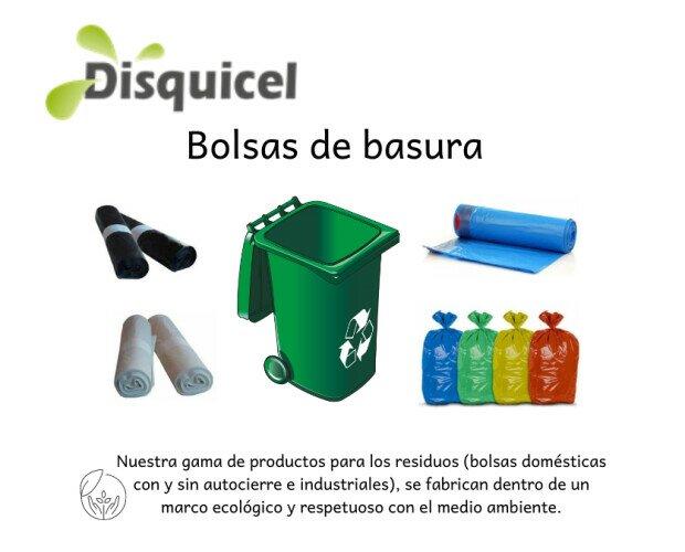 Bolsas de Basura.Disponemos de una amplia gama de bolsas de basura domésticas e industriales.
