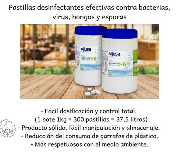 Pastillas desinfectantes. Pastillas desinfectantes efectivas contra bacterias, virus, hongos y esporas.