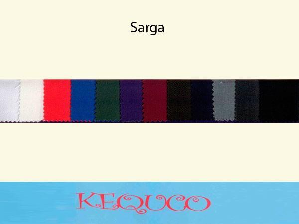 Telas. Variedad de colores en Sarga
