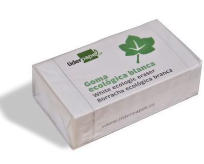 Material Escolar.Goma ecológica, sin PVC. Borra lápiz