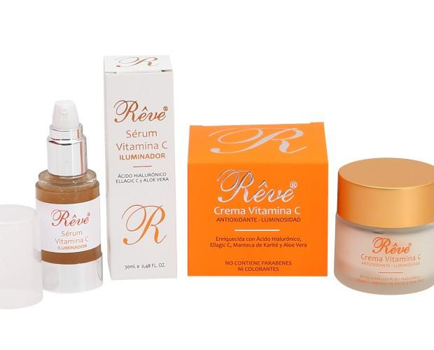 Línea Revé Vit C. Productos con alto poder antioxidante y antiarrugas.
