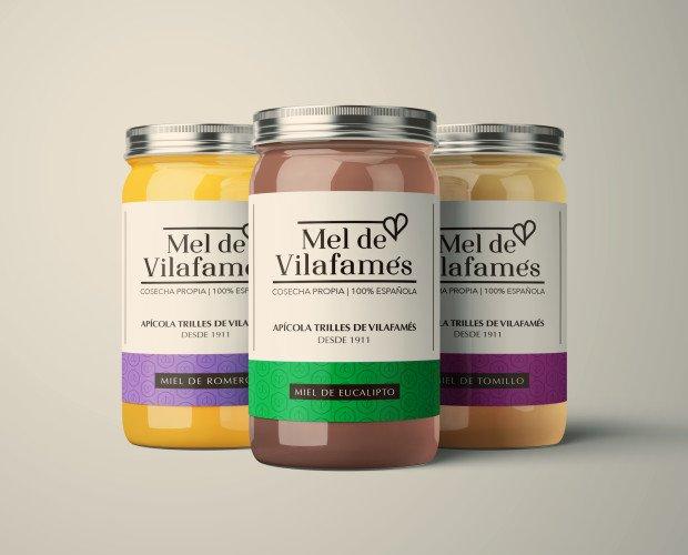 Diseño de Envases.Diseño de marca y diseño de packaging (línea de etiquetas marca de miel).