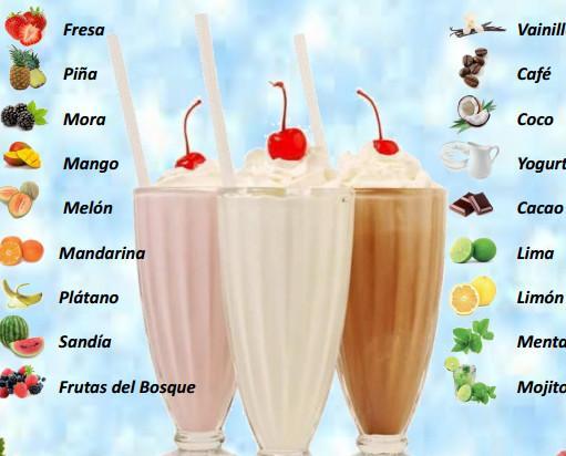 Batidos. 11 sabores a elección!