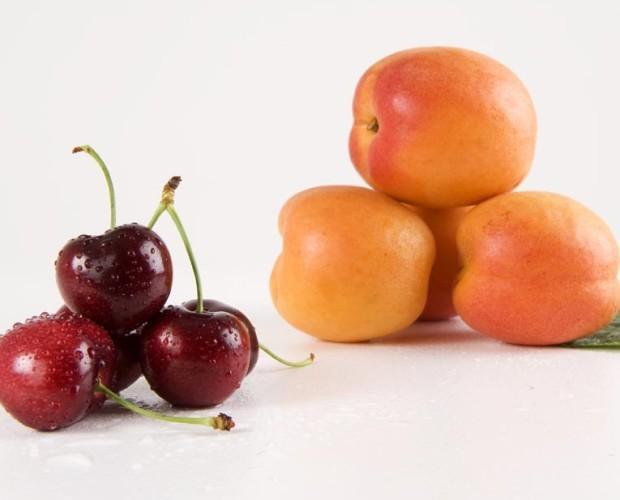 Albaricoques.Variedad de frutas frescas