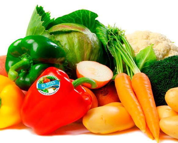 Verduras. Amplia diversidad de verduras frescas