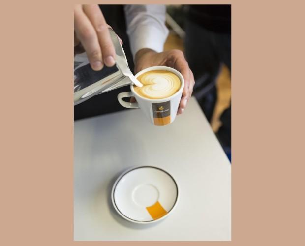 Café latte. Café y arte