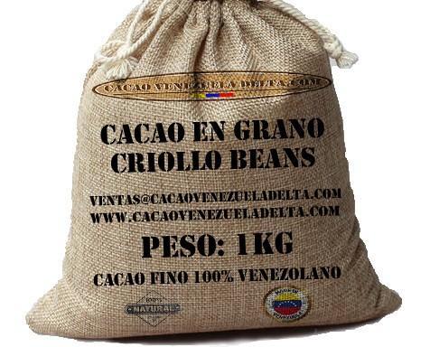 Cacao en grano. 1kg de Granos de Cacao