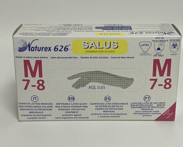Guante de Latex sin polvo. Con revestimiento interno y puños para una fácil colocación