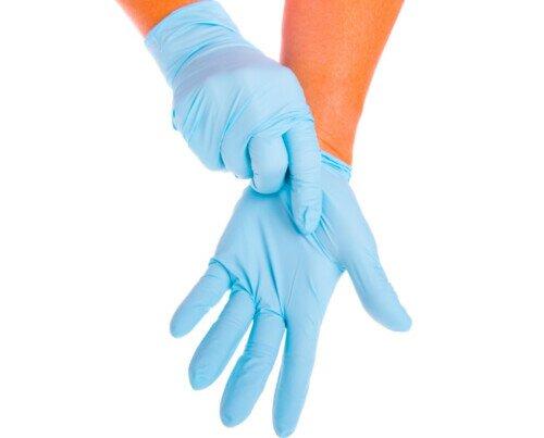 Guantes de Nitrilo Azul. Sin polvo desechable y de alta calidad