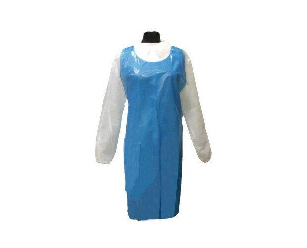 Delantal Desechable. Con soporte de cuello y cintas para sujeción en la cintura