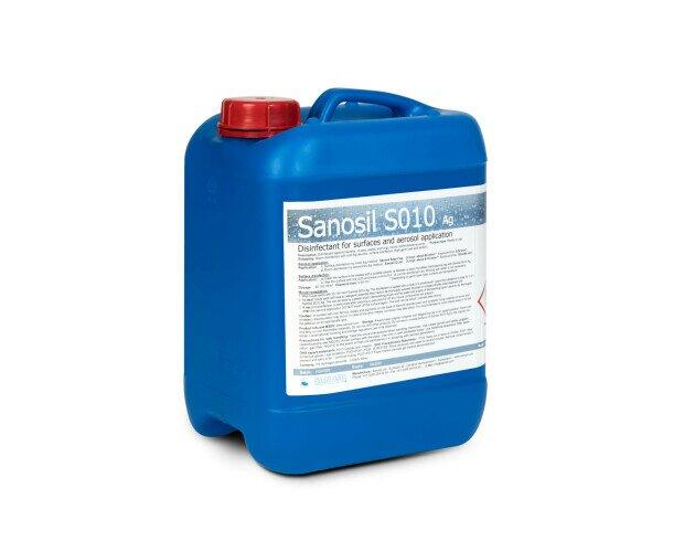 Desinfectante Sanosil S010. Para la desinfección de superficies y ambientes por vía aérea