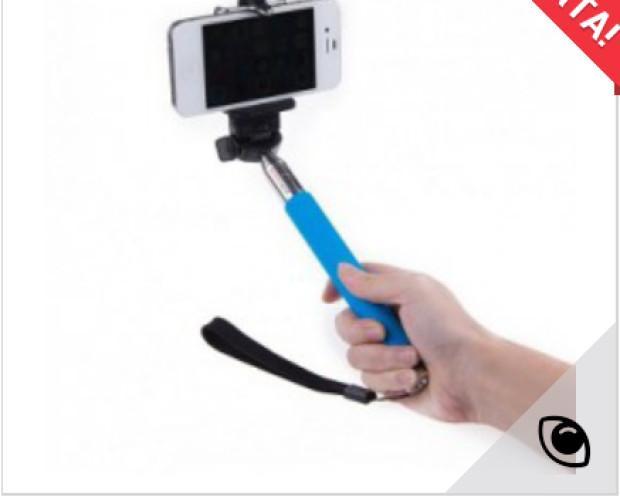 Móviles, Accesorios y otros Dispositivos Inalámbricos. Palos de Selfie. Monopod con cable azul