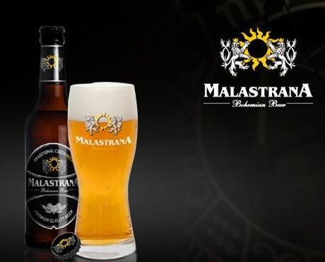 Cerveza. Botella de cerveza y copa