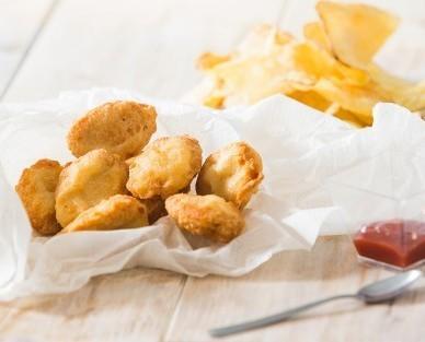 Nuggets de pollo. Sencillo y con buenas materias primas, para hacer un producto de calidad