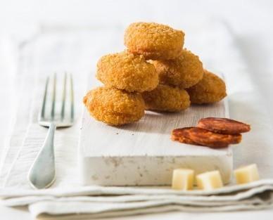 Nuggets de queso y chorizo. Excelente y deliciosa combinación