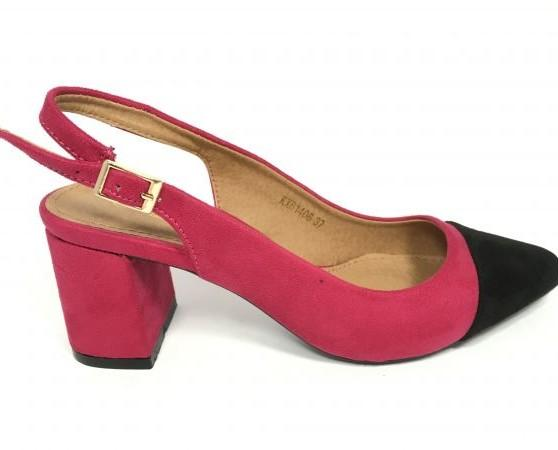 Zapatos de vestir. Zapatos rosa con negros