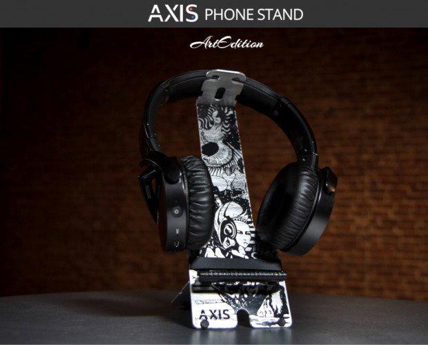 Headset Stand ArtE. Soporte auriculares, cascos, reproductores y móviles.