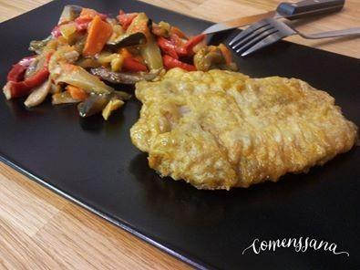 Pescado con verduras. Fácil y rápido de servir