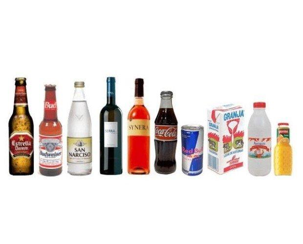 Bebidas. Cervezas, vinos, refrescos, zumos, agua mineral y más