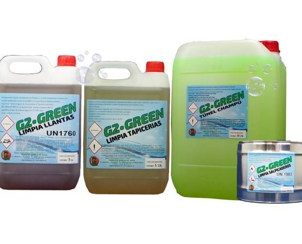 Familia G2GREEN Automoción e Industria. Productos para Automoción e industria y limpieza