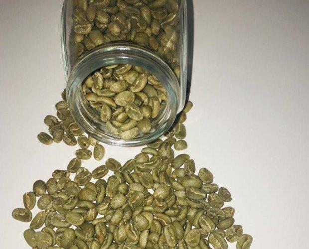 Café verde. Café oro verde