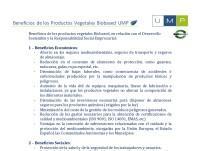 Beneficios de los Productos Biobased