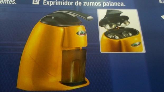 Exprimidor palanca. Simple 240€ Doble 330€