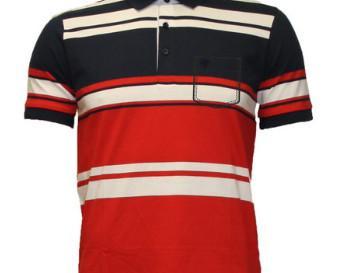 Polos de Hombre.Combinación de marino, rojo y blanco