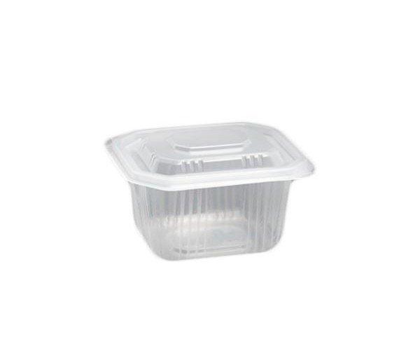 Envase para comida. Bandeja de plástico perfecta para una ración de comida como guisos.