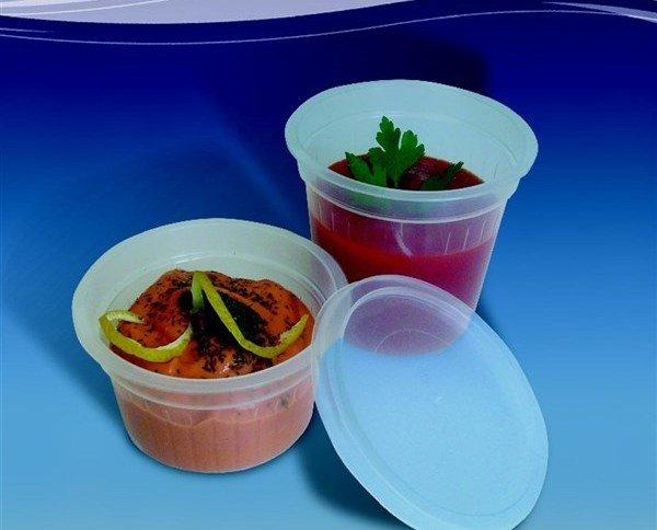 Tarrina para salsas. Apto para microondas. Capacidad: 50 cc.