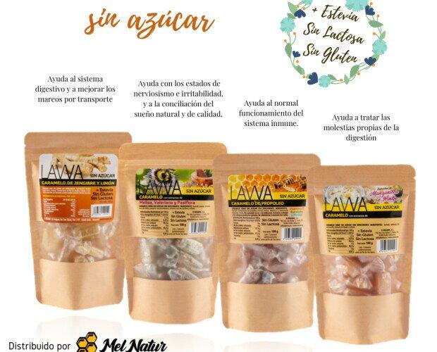 Caramelos naturales. Contamos con una gama amplia de caramelos funcionales, ECO, sin azúcar...