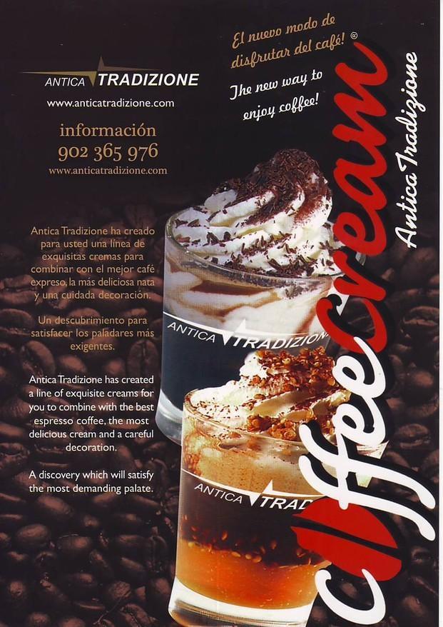 CoffeeCream. Combine el mejor café con  deliciosas cremas