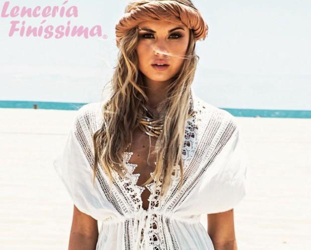 52d6e8e04361 Vestido de Playa blanco para venta a tiendas.