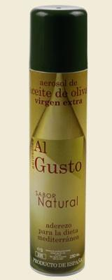 Aceite de oliva. Aceite en aerosol