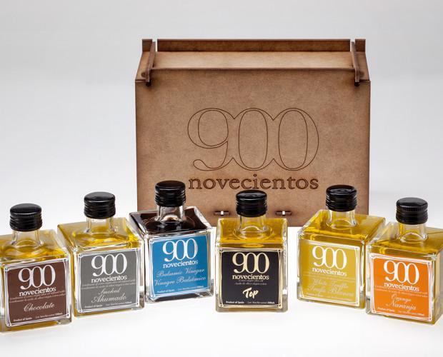 Pack madera AOVE 900. Caja madera regalo aceite de oliva aromatizado 900