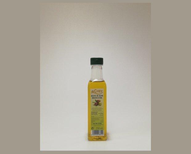 Aceite virgen extra. Aceite de oliva virgen extra 250 ml botella (PET)  Tambien hay botellas de color verde .