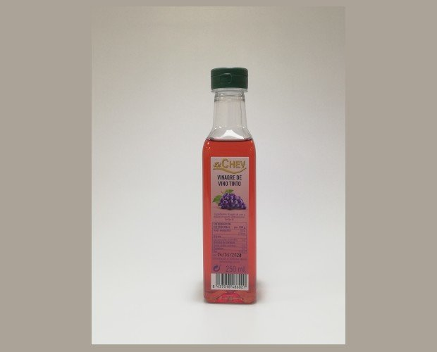 Vinagre de Vino.Vinagre de vino tinto 250 ml botella (PET) Pack de 12 botellas