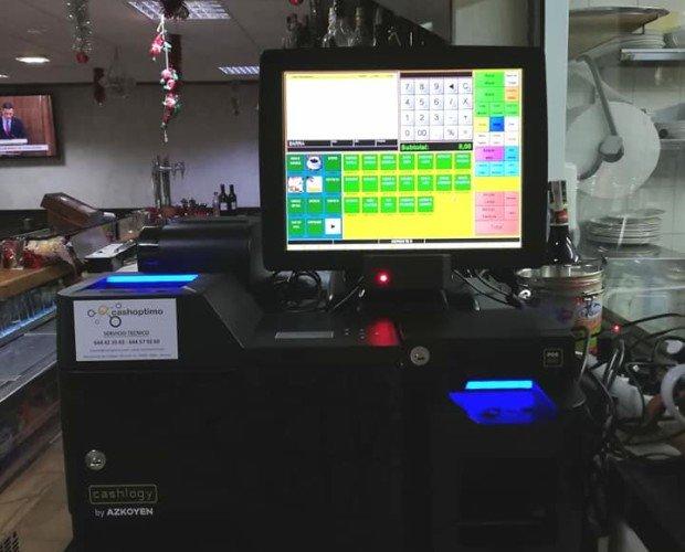 Instalación Cashlogy. Instalación de Cashlogy en un merendero de Gijón con software BDP