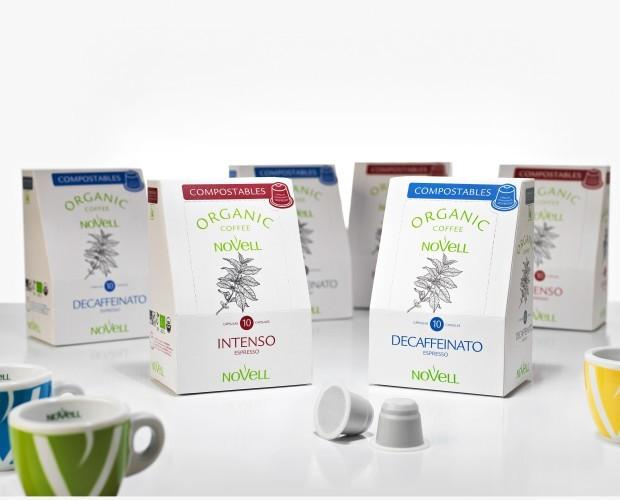 Cápsulas de café compostables. Se reciclan como deshecho orgánico