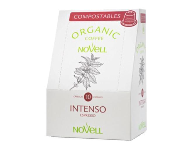 Café en cápsula compostable Intenso. Café ecológico, cajas de 10 ud
