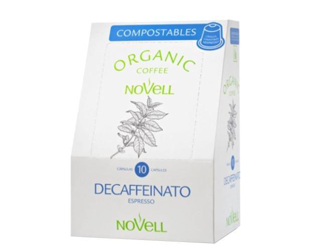 Café en cápsula compostable Decaffeinato. Ecológico descafeinado