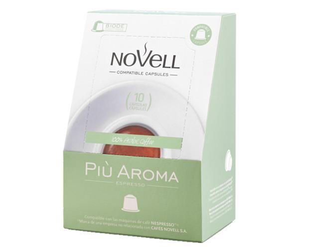 Café en cápsula compostable Piu Aroma. Pack de 10 unidades