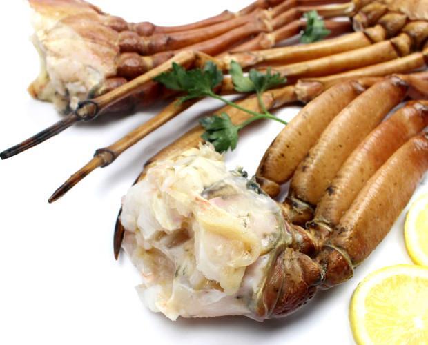 Pata de cangrejo. Diferentes tamaños