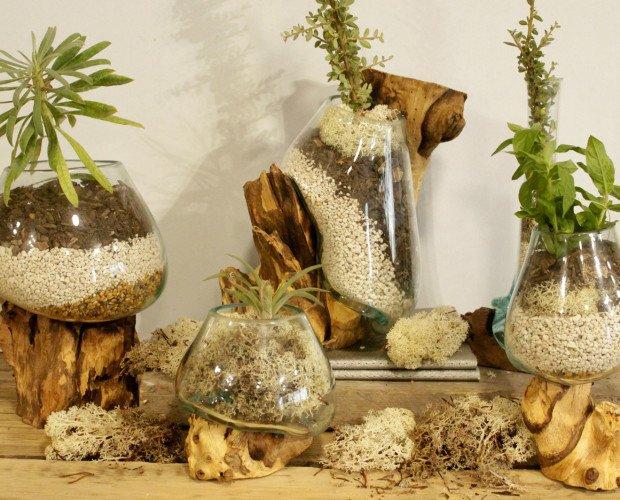 Vidrio y madera. Una perfecta decoración para tu hogar
